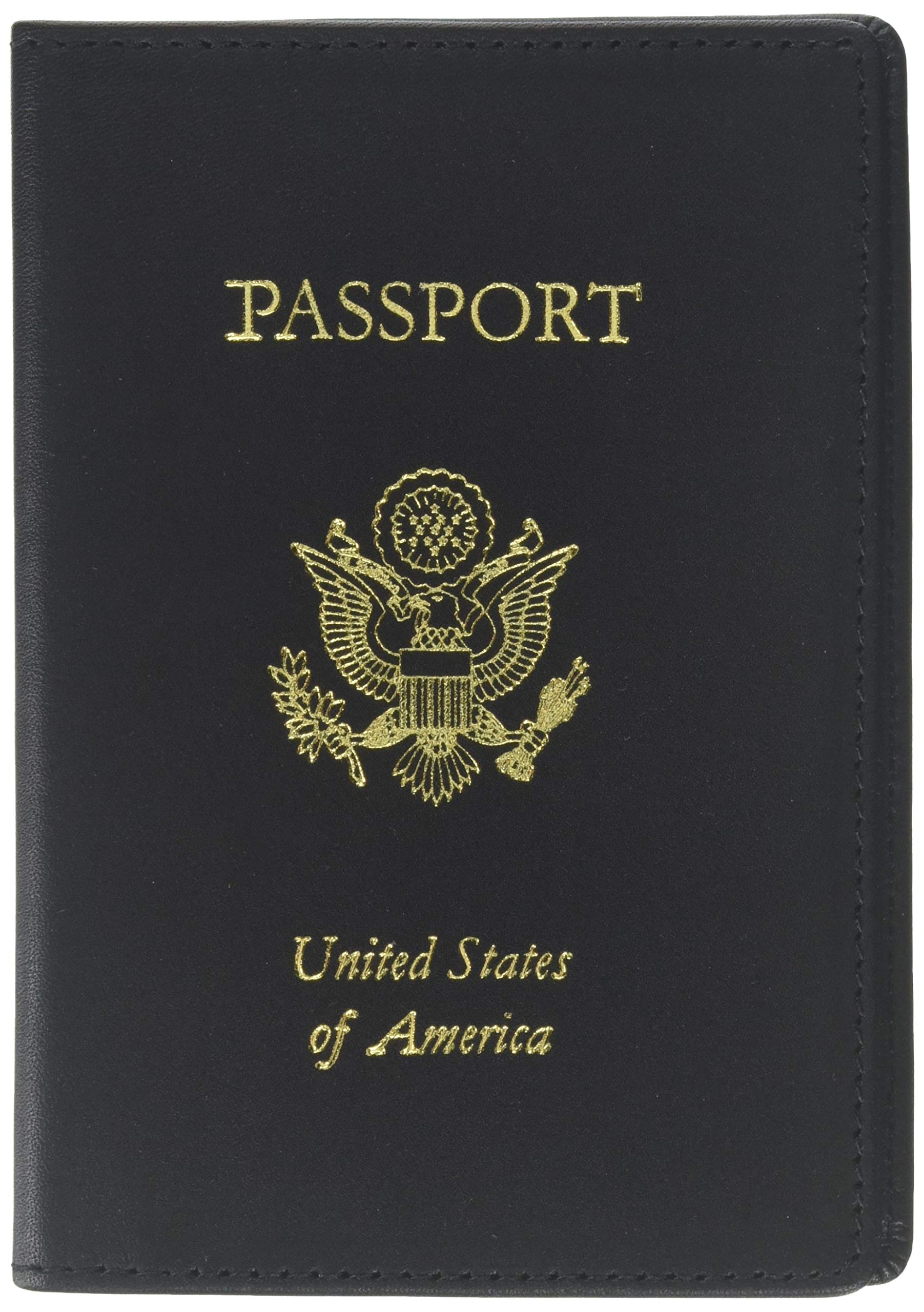 Royce Leather RFID Blocking Passport Travel Document Organizer in Leather, Black 1 by Royce Leather