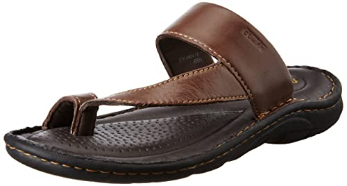 7161ce8e315f BATA Men s Sporty Toering Brown Leather Hawaii Thong Sandals - 7 UK India  (41