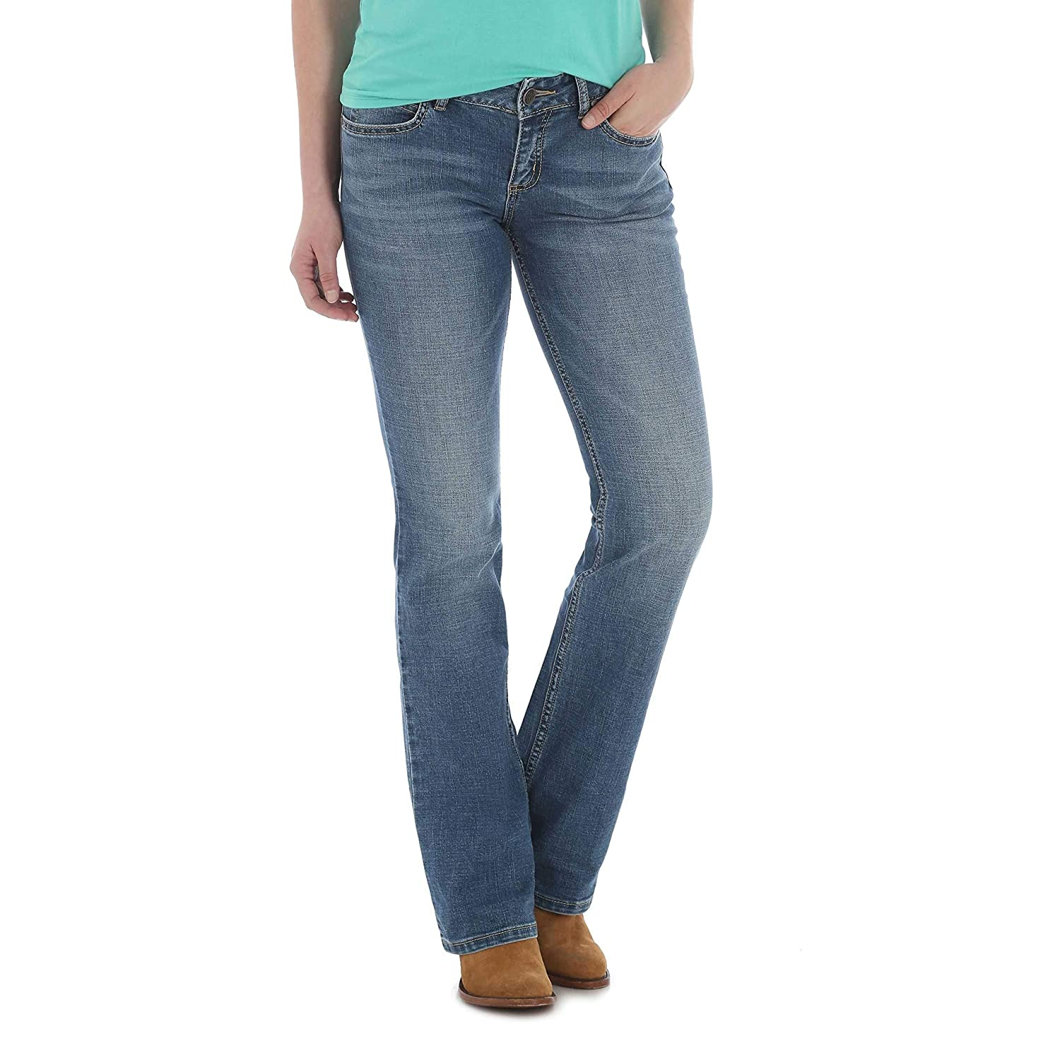 107c6a06 Wrangler Women's Retro Mae Mid-Rise Bootcut Jeans at Amazon Women's Jeans  store