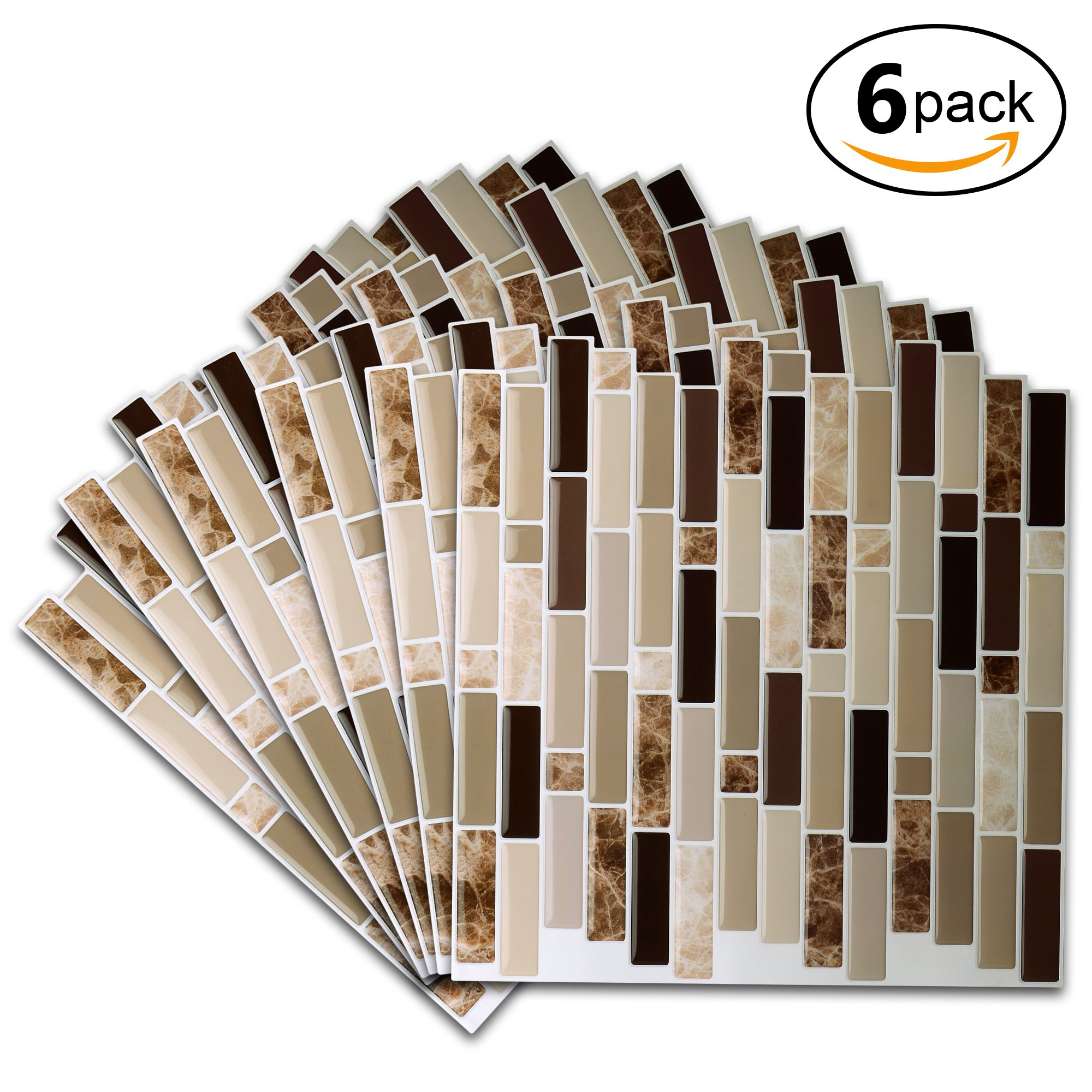 vamos tile premium anti mold peel and stick tile backsplash stick on backsplash 696535978053 ebay. Black Bedroom Furniture Sets. Home Design Ideas