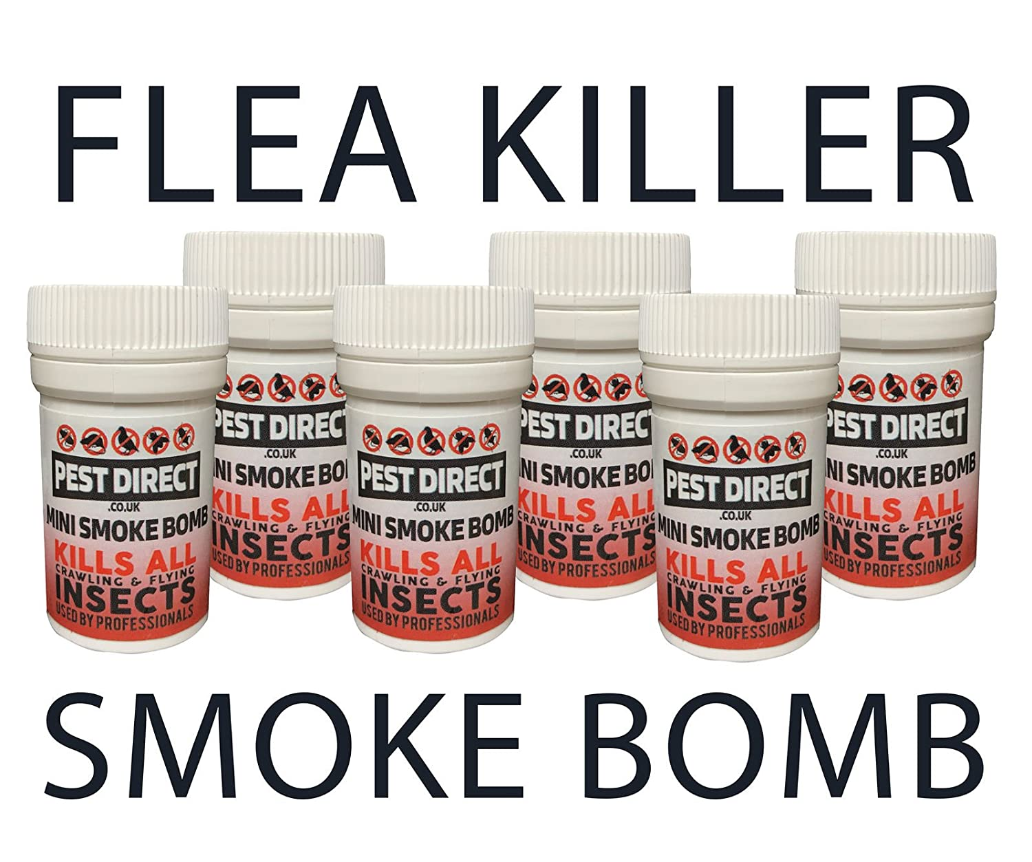 6 x Flea Bomb Foggers - Pet Dog Cat Fleas Flea House Room Smoke Fumers Pest Direct