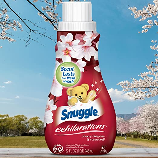 Amazon.com: Snuggle Exhilarations Liquid Fabric Softener, Cherry Blossom & Rosewood, 32 Fluid Ounces: Health & Personal Care