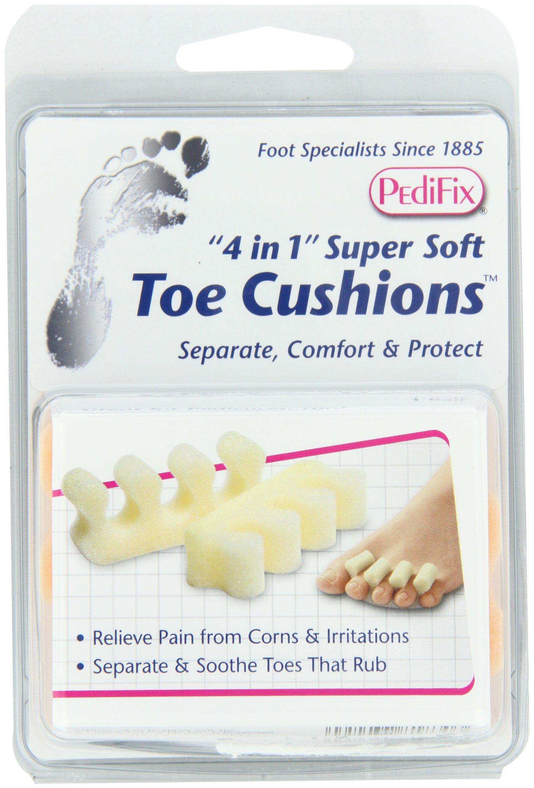 PediFix '4 in 1' Super-Soft Toe Cushions, 2 Pack