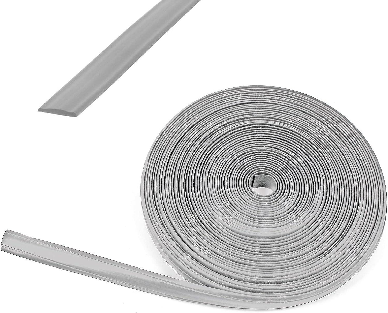 Wamovo 10 Meter Kederband 12 Mm Silber Kunststoff Leistenfüller Für Wohnwagen Und Wohnmobil Auto