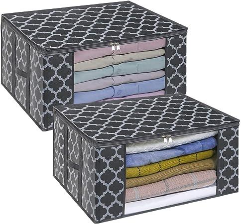 Rangement Couette Stockage Boîte Sous Lit Oreiller Literie Organisateur Sac Zip