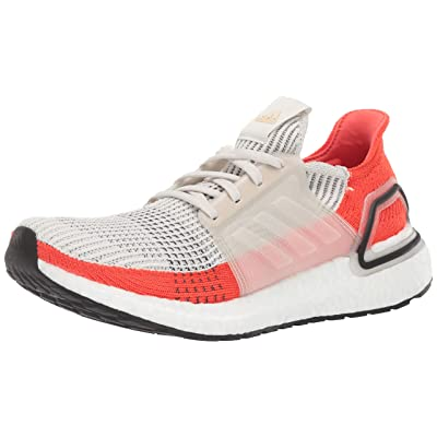 adidas Men's Ultraboost 19 Running Shoe, raw White/Active Orange, 6.5 M US | Fashion Sneakers