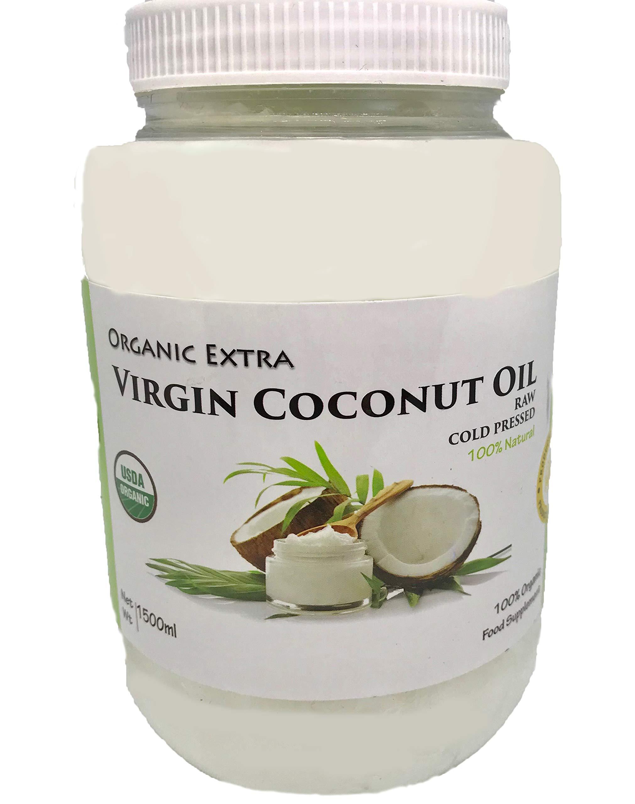 GOrganica Virgin Coconut Oil Unrefined Cold Pressed Raw (1.5L)