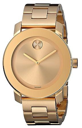amazon com movado women s 3600085 bold gold tone watch watches