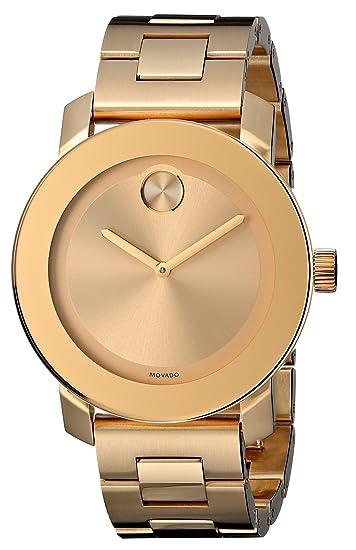 Movado 3600085 Bold Reloj de Las Mujeres Tono Dorado Reloj: Amazon.es: Relojes