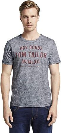 Tom Tailor Logo Camiseta para Hombre