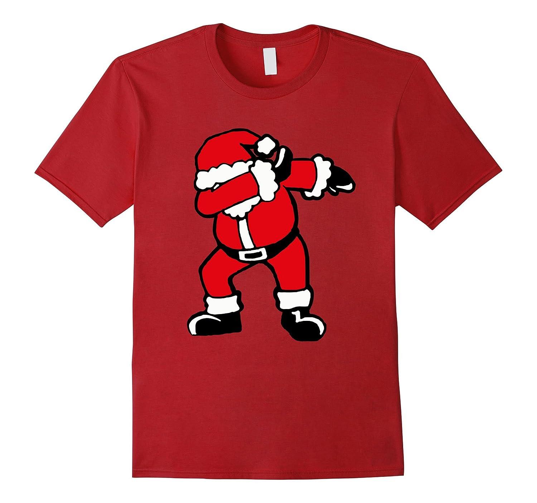 Christmas Dabbing Santa T Shirt | Funny Dab Xmas Gift Idea-FL