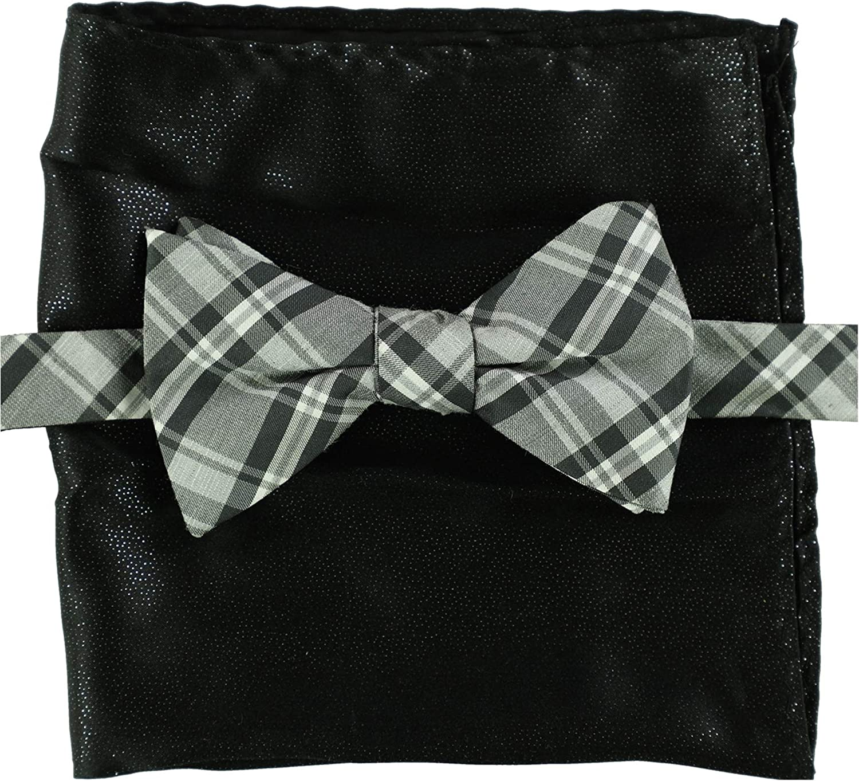 Alfani Blue Bow Tie /& Pocket Square Set