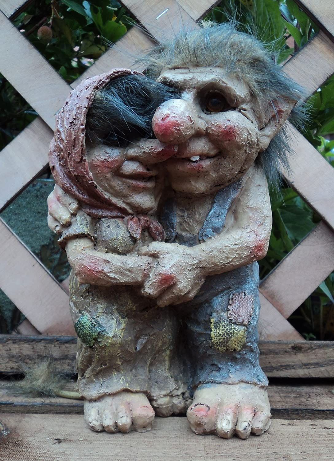 Delightful Loved Up Couple Talula And Tarquin Troll Gnome Garden Gift Ornament:  Amazon.co.uk: Garden U0026 Outdoors