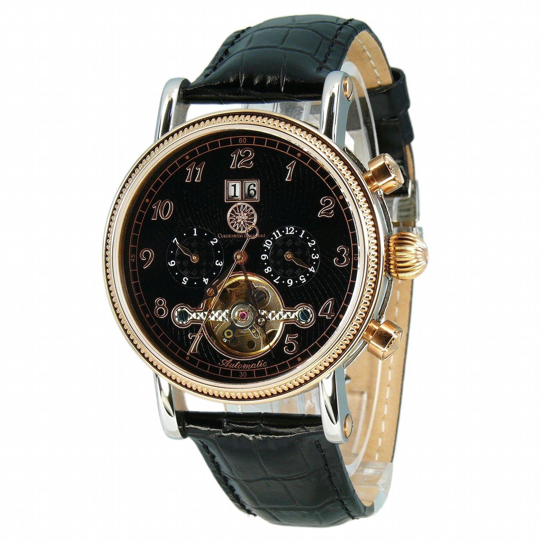 Constantin Durmont Tradition CD-TRAD-AT-LT-STRG-BK - Reloj analógico automático para Hombre, Correa de Cuero Color Negro