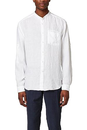 ESPRIT Herren Freizeithemd 048EE2F008, Weiß (White 100), Large f9d15ff3ab
