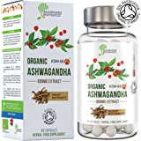 BIO Ashwagandha KSM66® | 600mg | zertifiziert | Anti-Stress, innere Ruhe, Energie & Aufmerksamkeit, Nootropikum | 5% Withanolide (30mg) | vegan, glutenfrei, halal, koscher | Geld-zurück-Garantie