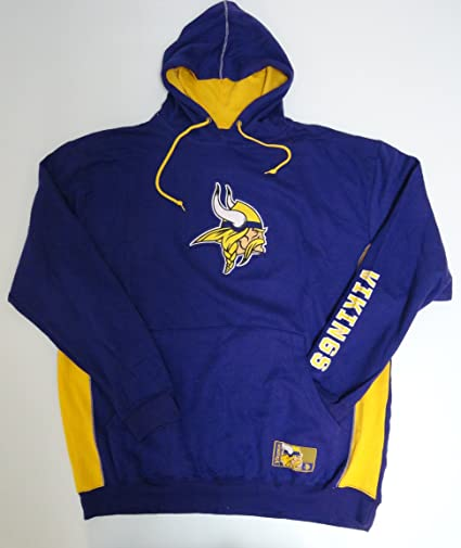 NFL Licensed Minnesota Vikings Purple Pullover Hoodie Sweatshirt Jacket  With Yellow Inside Hood (2X) 95638f7c6911