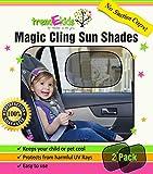 trendEkids Premium Baby Car Window Magic Cling Sun Shades. Blocks 97% of Harmful UV Rays Protects Your Child From Sunlight Glare 2X Ultimate Child Car Side Window Sunscreens 100% Money Back Guarantee