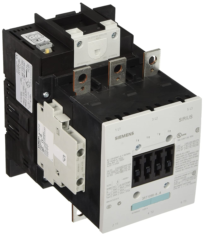 Siemens 3RT10 56-6NB36 Motor Contactor, 3 Poles, S6 Frame