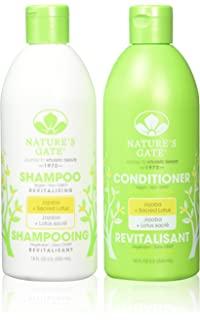 Natures Gate Jojoba Revitalizing, Duo Set Shampoo + Conditioner, 18 Ounce Each