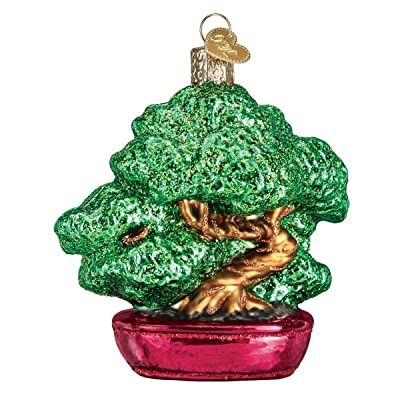 Just Be Claus Bonsai Tree Glass Ornament: Home & Kitchen