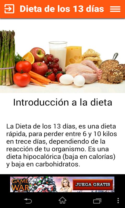 Dieta de los trece dias opiniones
