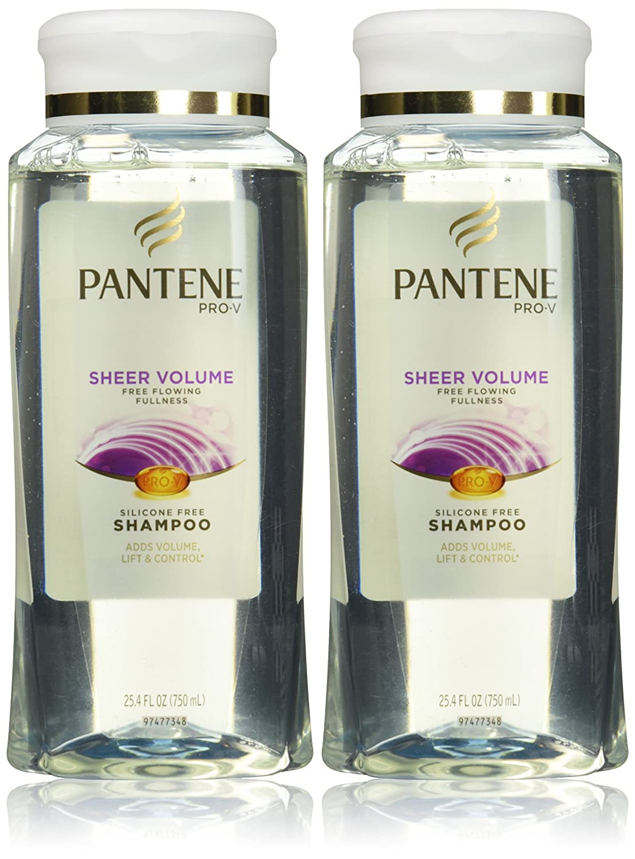 Pantene Pro V Sheer Volume Silicone Free Shampoo 254 Sampo Hairfall Control 750ml Oz 2 Pk Beauty