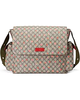 944c13d2c632a7 Amazon.com: Gucci Space Cats Cat GG Canvas Diaper Bag Baby Beige ...