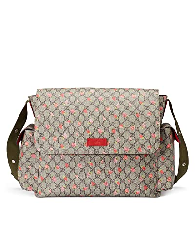 ecb30346654 Amazon.com  Gucci Strawberry Print GG Canvas Diaper Bag Beige Multicolor  New  Shoes