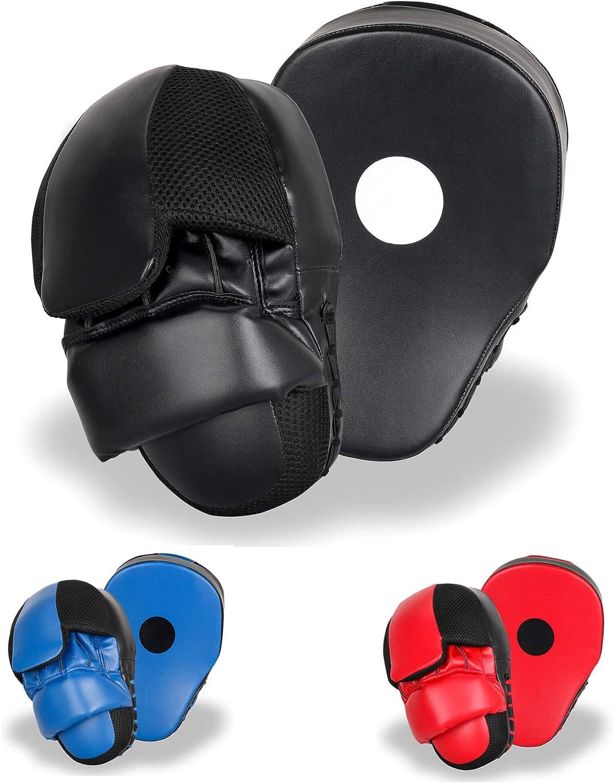 Punching Mitts MMA Boxing Training Focus Punch Pads Kickboxing Muay Thai Hand Target for Men & Women (Pair)
