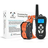PetSpy Remote Dog Training Shock Collar for Dogs with Beep, Vibration and Electric Shocking, Rechargeable and Waterproof E-Collar Trainer
