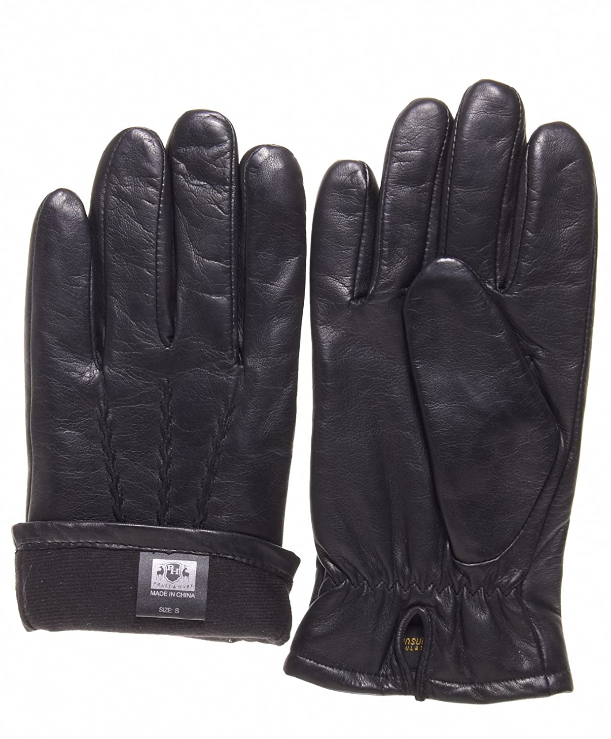 Mens gloves fashion - Pratt And Hart Men S Lambskin Winter Leather Gloves With Thinsulate Lining At Amazon Men S Clothing Store Cold Weather Gloves