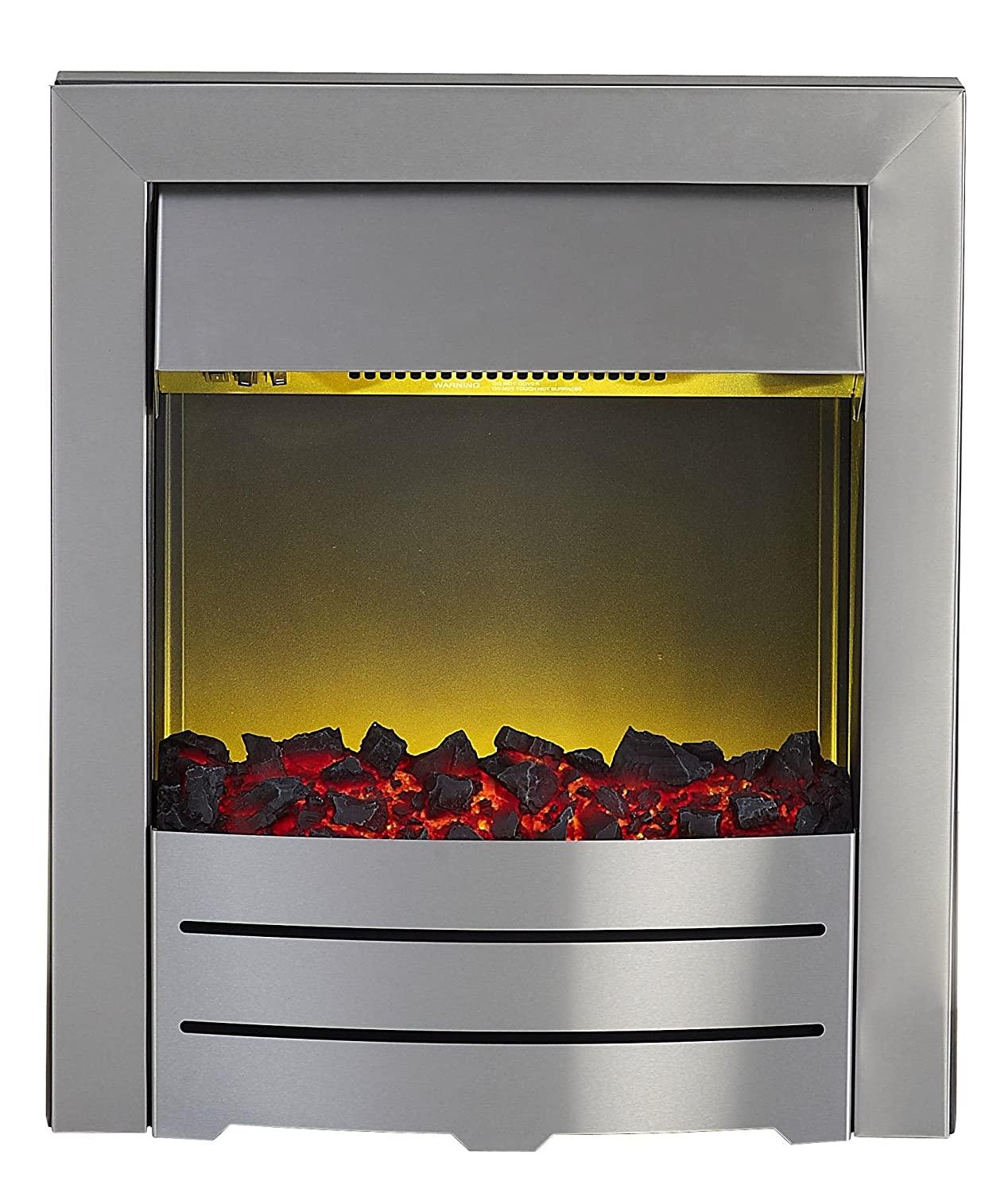 Adam Colorado Brushed Steel Inset Fire, 2000 W Fired Up Corporation Ltd 10212
