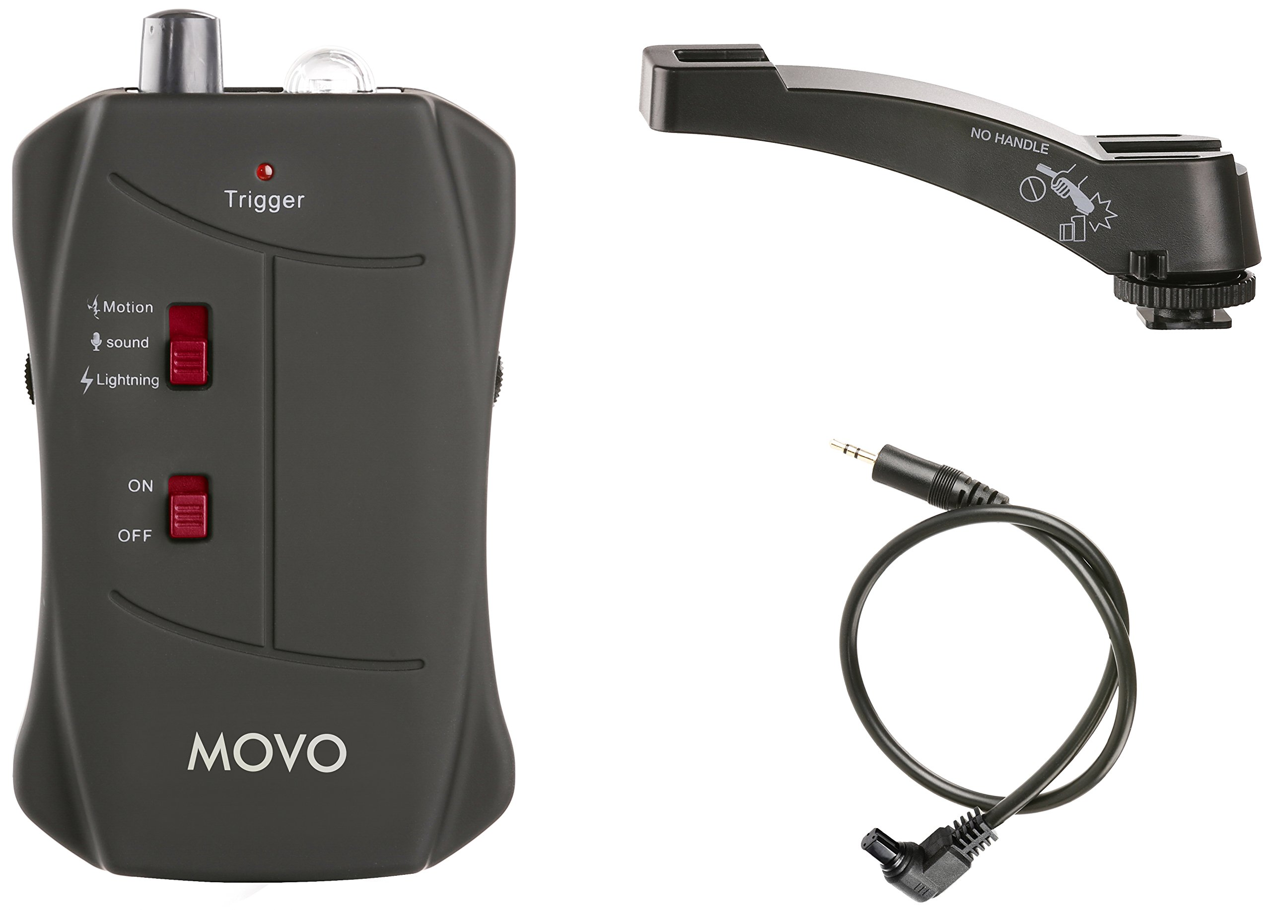 Movo LC200-C3 Sound, Motion and Lightning Shutter Trigger for Canon EOS 1D, X, 1DS, 5D, 5DS, 5D Mark IV, 6D, 7D, 50D DSLR Camera by Movo