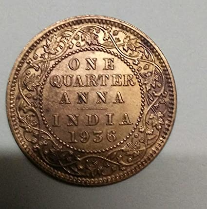Amazon com: Very Old Indian 1939 Year One Quarter Anna Coin