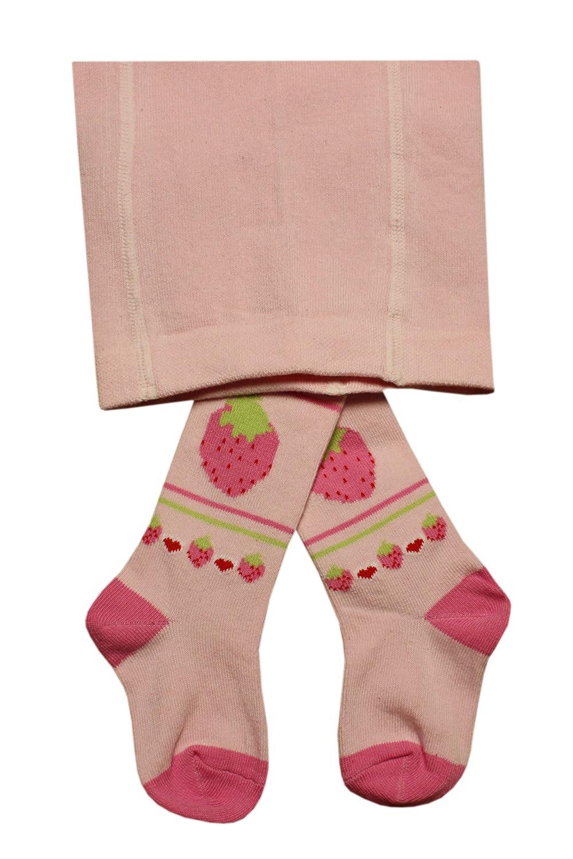 Weri Spezials Bebes et Enfants Fraises Collants Rose