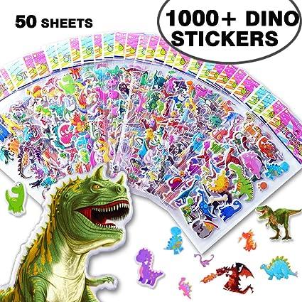 Amazon.com: Beestech 1000 Pcs + Dinosaurio Pegatinas para ...