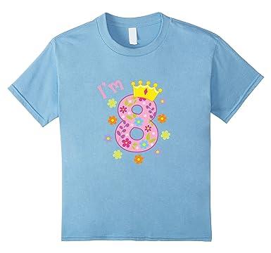Kids Im 8 Birthday T Shirt Year Old Gift Tee For