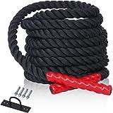 CCLIFE Schlacht Seil Trainingsseil Sportseil Schwungseil für Fitnessstudio und Muskelaufbau 9m oder 15m 38 mm Durchmesser battle ropes