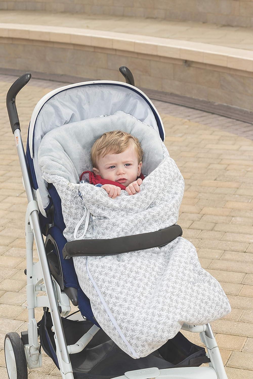 Nuvita 9705 Junior Trendy Universal-Fu/ßsack f/ür Kinderwagen Abstract Clefs - White