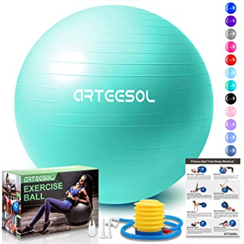 arteesol Fitness Pelota, Balón de Ejercicio Anti-explosión 45cm ...