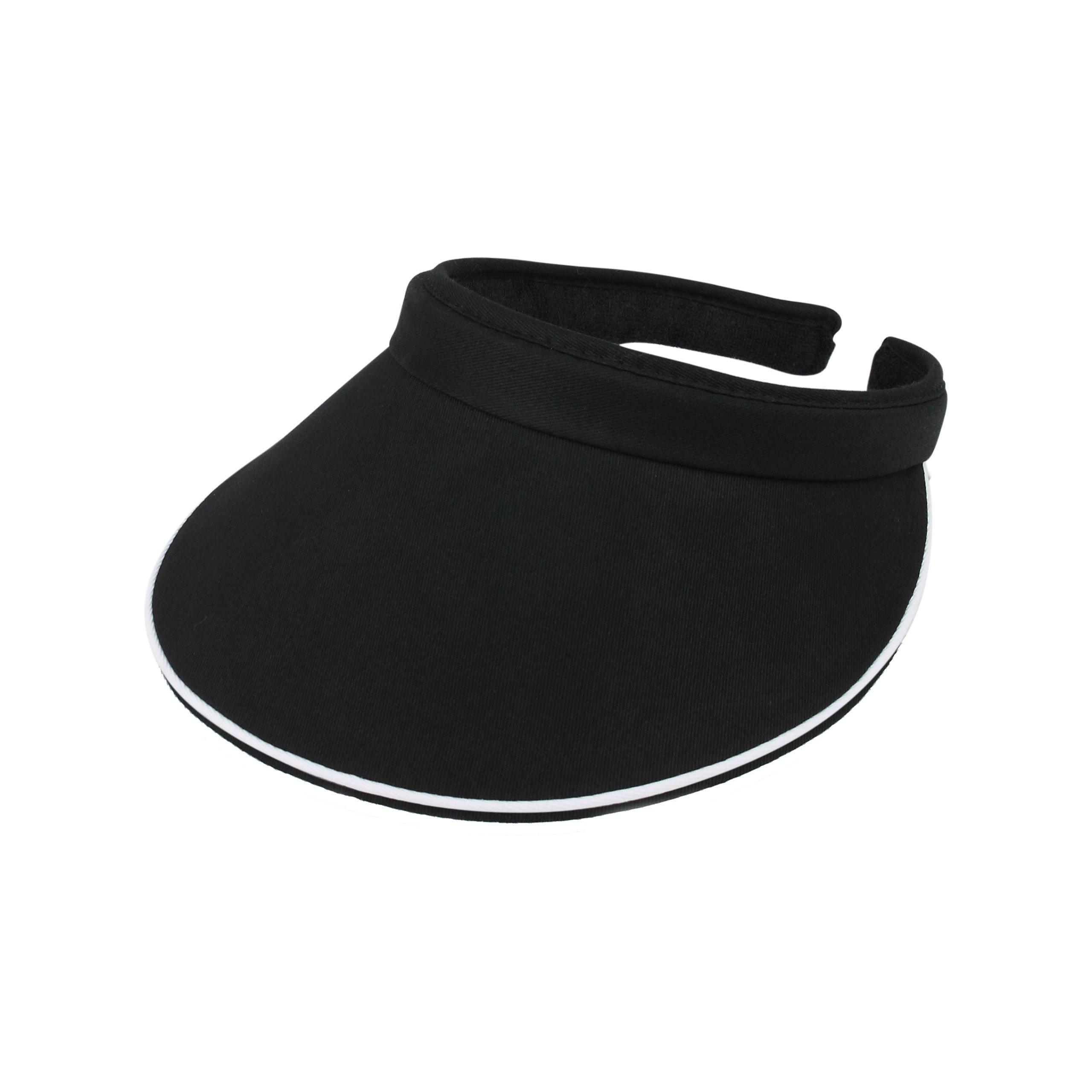 MG Women's Cotton Twill Clip-On Visor-4115