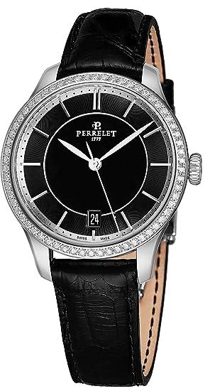 Perrelet Reloj de Mujer automático 35mm Correa de Cuero de caimán A2070-2: Perrelet: Amazon.es: Relojes