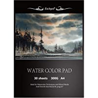 Eachgoo Watercolor Pad, 30 Sheets A4 Acid Free Cold Pressed Paper 300gsm for Watercolor Painting,Drawing, Sketching