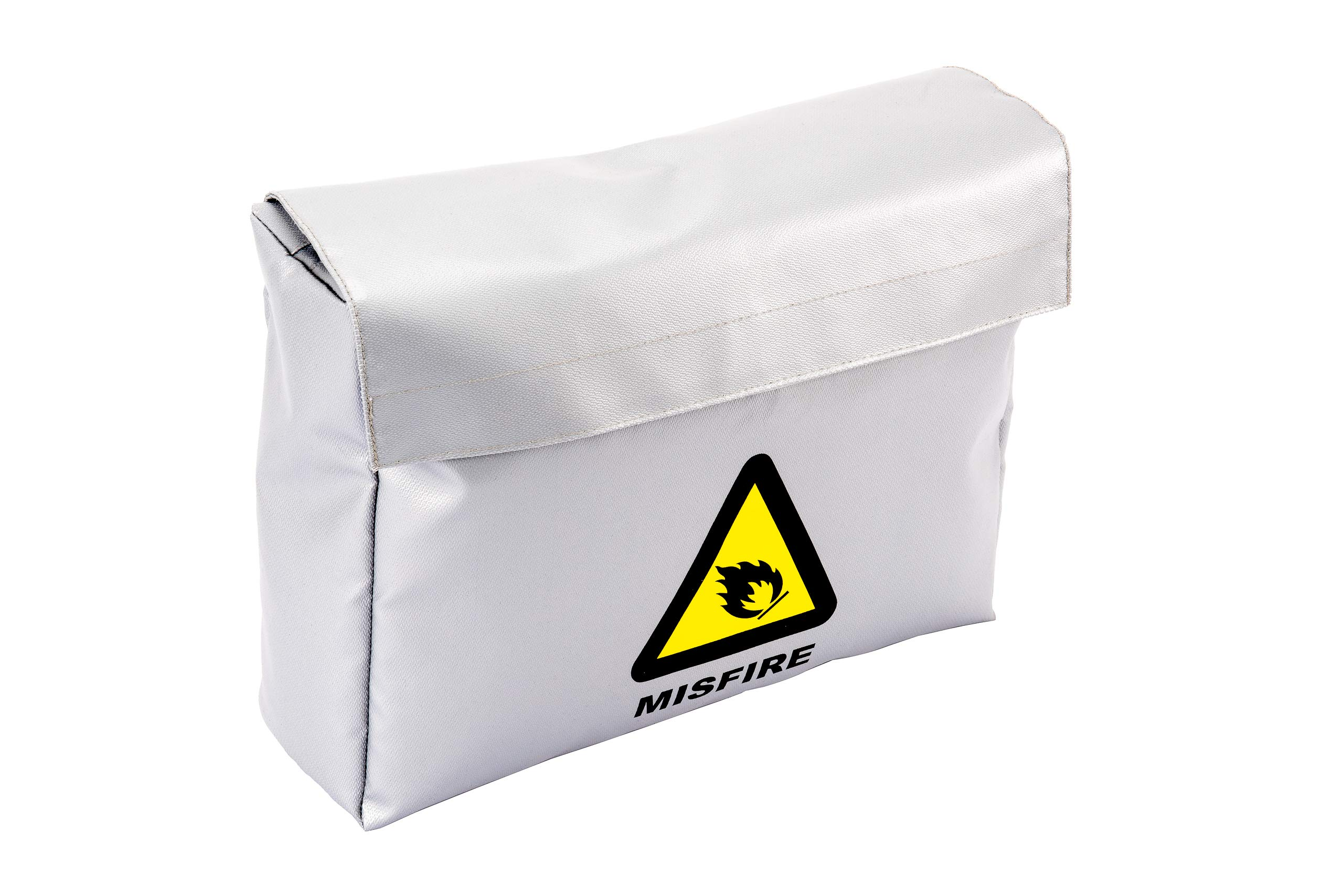 MISFIRE Fireproof and Water Resistant Bag | Silicone Coated Fiberglass Non-Itchy | Double Closure |11x15x4 Size for Legal Documents, Currency, Jewelry, Etc.