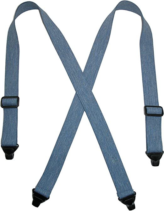 Navy Airport Friendly Durable Mens Suspenders Made in the USA
