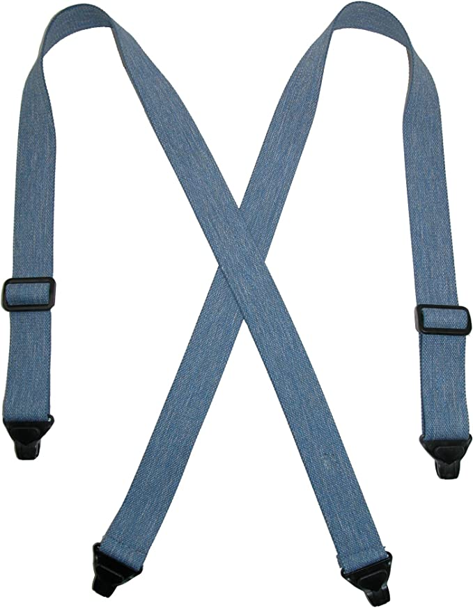 New CTM Men/'s Undergarment TSA Compliant Side Clip Airport Suspenders