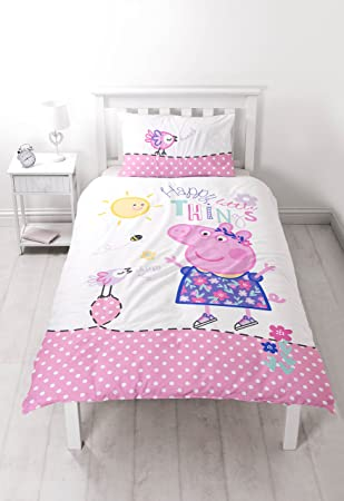 Peppa Pig Happy Single Bettbezug Set Großer Print Design Amazon
