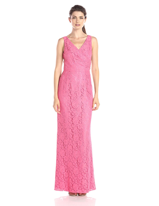 Donna Morgan Womens Lark Long Lace Gown