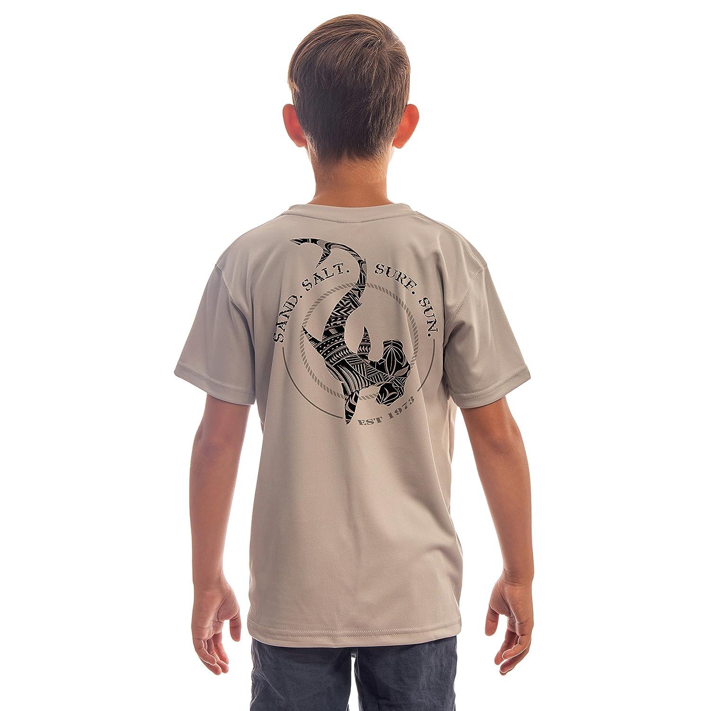 Sun Protection Short Sleeve T-Shirt Polynesian Hammerhead Tribal Youth UPF 50 SAND.SALT.SURF.SUN